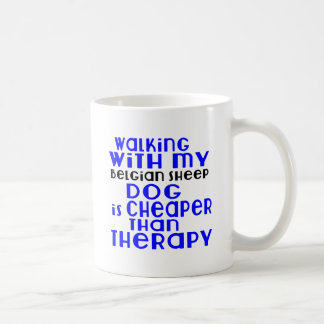Walking With My Belgian Sheepdog Dog Designs Coffee Mug