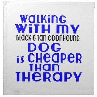 Walking With My Black & Tan Coonhound Dog Designs Napkin