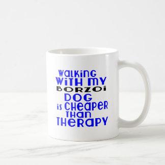 Walking With My Borzoi Dog Designs Coffee Mug