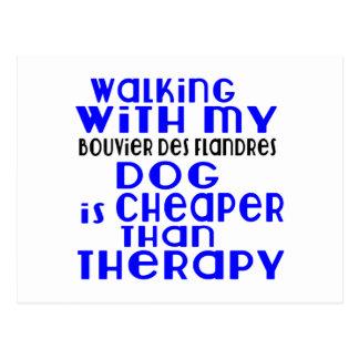 Walking With My Bouvier Des Flandres Dog Designs Postcard