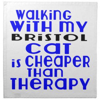 Walking With My Bristol Cat Designs Napkin