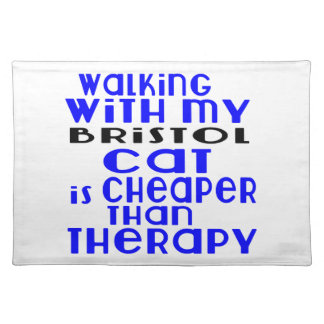 Walking With My Bristol Cat Designs Placemat