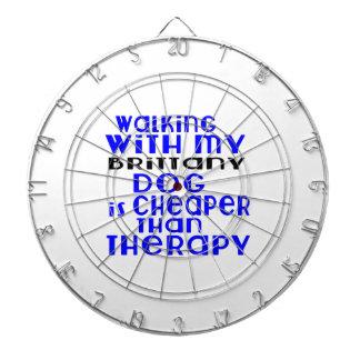 Walking With My Brittany Dog Designs Dartboard