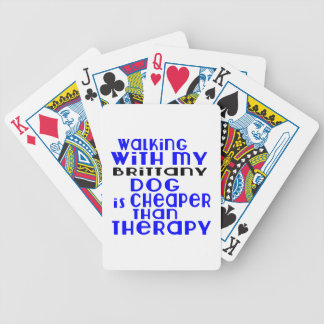 Walking With My Brittany Dog Designs Poker Deck