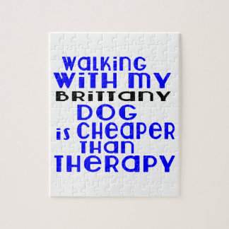 Walking With My Brittany Dog Designs Puzzles