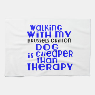 Walking With My Brussels Griffon Dog Designs Kitchen Towels