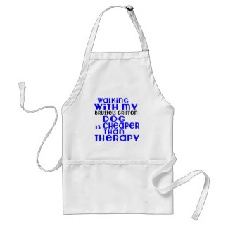 Walking With My Brussels Griffon Dog Designs Standard Apron