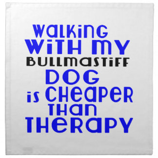 Walking With My Bullmastiff Dog Designs Napkin