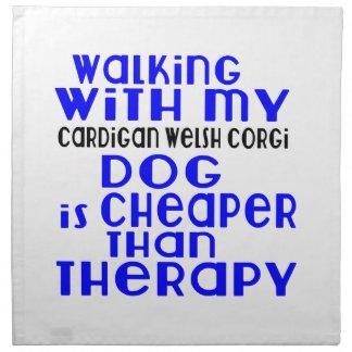 Walking With My Cardigan Welsh Corgi Dog Designs Cloth Napkin
