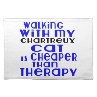 Walking With My Chartreux Cat Designs Placemat