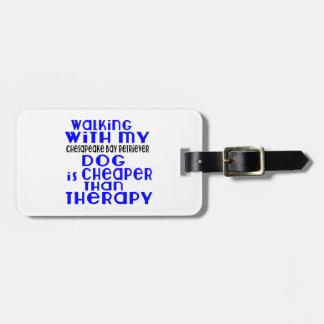 Walking With My Chesapeake Bay Retriever Dog Desig Bag Tag
