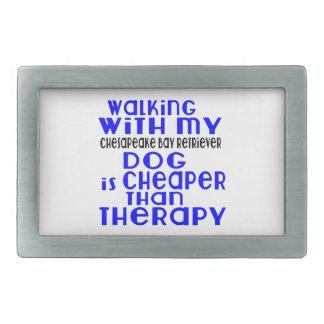 Walking With My Chesapeake Bay Retriever Dog Desig Belt Buckles
