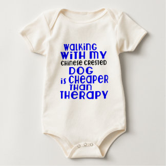 Walking With My Chinese Crested Dog Designs Baby Bodysuit