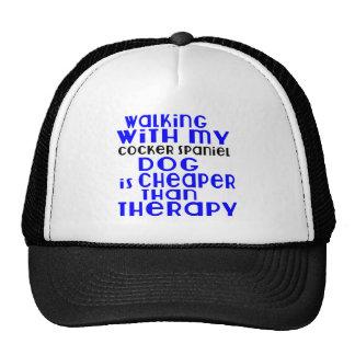 Walking With My Cocker Spaniel Dog Designs Trucker Hat