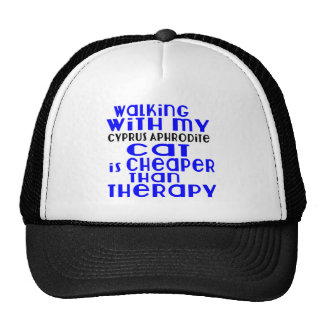 Walking With My Cyprus Aphrodite Cat Designs Trucker Hat