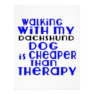 Walking With My Dachshund Dog  Designs Letterhead Template