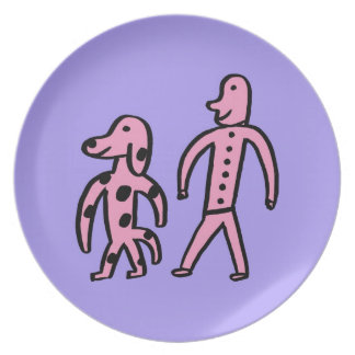 Walking With My Dog Plate