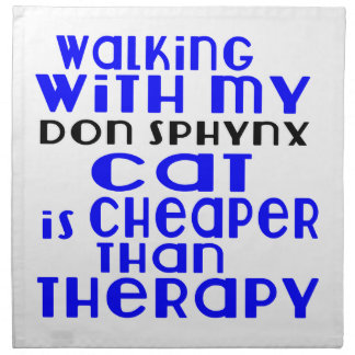 Walking With My Don Sphynx Cat Designs Napkin