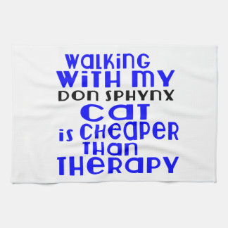 Walking With My Don Sphynx Cat Designs Towels