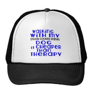 Walking With My English Cocker Spaniel Dog  Design Trucker Hat