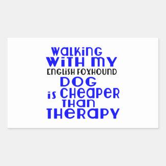 Walking With My English Foxhound Dog  Designs