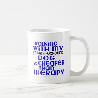 Walking With My English Foxhound Dog  Designs Coffee Mug