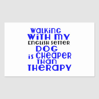 Walking With My English Setter Dog  Designs