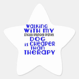 Walking With My English Springer Spaniel Dog  Desi Star Sticker
