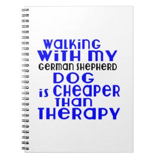 Walking With My German Shepherd Dog  Designs Note Book