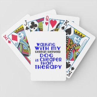 Walking With My German Shepherd Dog  Designs Poker Deck