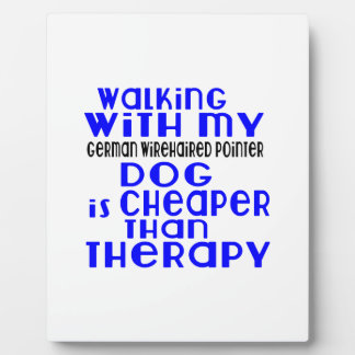 Walking With My German Wirehaired Pointer Dog  Des Display Plaques