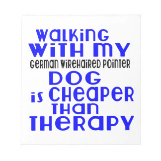 Walking With My German Wirehaired Pointer Dog  Des Notepads