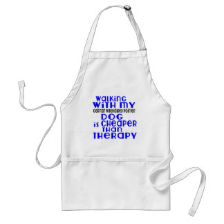 Walking With My German Wirehaired Pointer Dog  Des Standard Apron