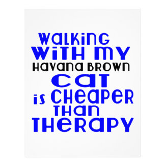 Walking With My Havana Brown Cat Designs Letterhead Template