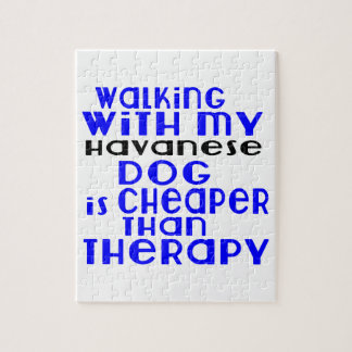 Walking With My Havanese Dog  Designs Puzzles