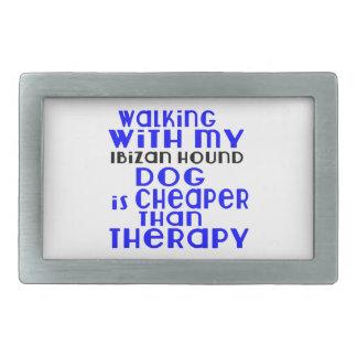 Walking With My Ibizan Hound Dog  Designs Rectangular Belt Buckles