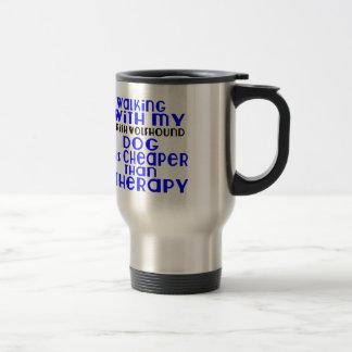 Walking With My Irish Wolfhound Dog  Designs Travel Mug