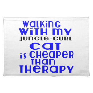 Walking With My Jungle-curl Cat Designs Placemat