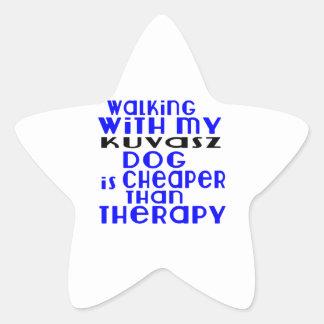 Walking With My Kuvasz Dog  Designs Star Sticker