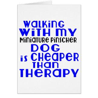 Walking With My Miniature Pinscher Dog Designs Card