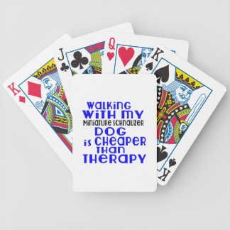 Walking With My Miniature Schnauzer Dog Designs Poker Deck