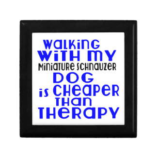 Walking With My Miniature Schnauzer Dog Designs Trinket Boxes