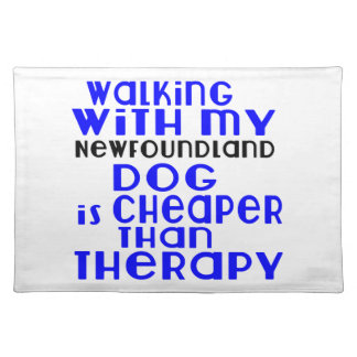 Walking With My Newfoundland Dog Designs Placemat