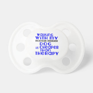 Walking With My Norfolk Terrier Dog Designs Baby Pacifiers