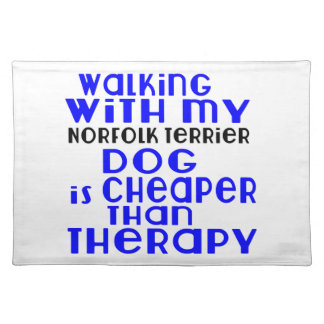 Walking With My Norfolk Terrier Dog Designs Placemat
