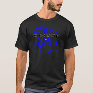 Walking With My Ocicat Cat Designs T-Shirt