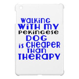 Walking With My Pekingese Dog Designs Case For The iPad Mini