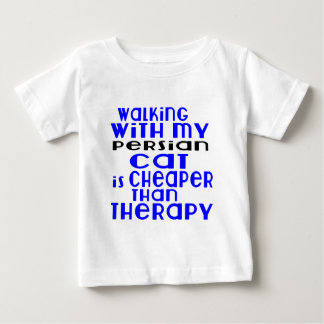 Walking With My Persian Cat Designs Baby T-Shirt