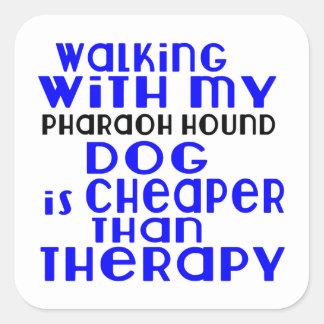 Walking With My Pharaoh Hound Dog Designs Square Sticker