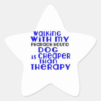 Walking With My Pharaoh Hound Dog Designs Star Sticker